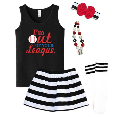 Out Of Your League Tank Top Baseball Black