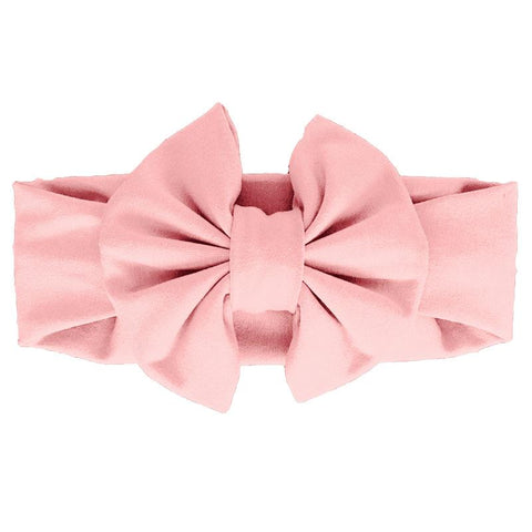 Peach Pink Messy Bow Headband