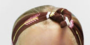 Pink Brown Arrow Head Wrap