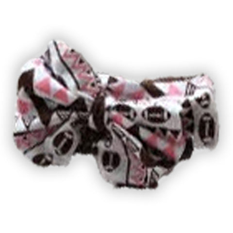 Pink Brown Aztec Football Messy Bow Headband