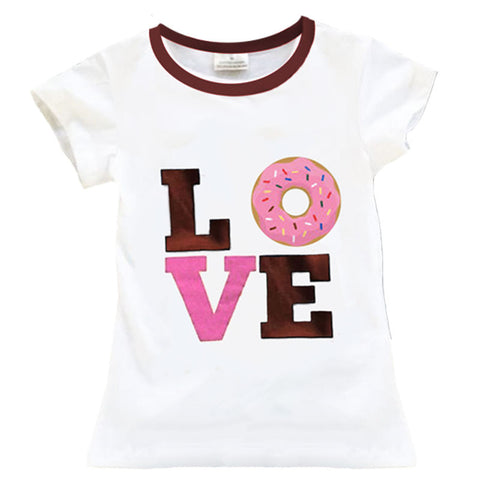 Pink Brown Love Donuts Shirt