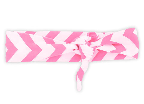 Pink Chevron Head Wrap