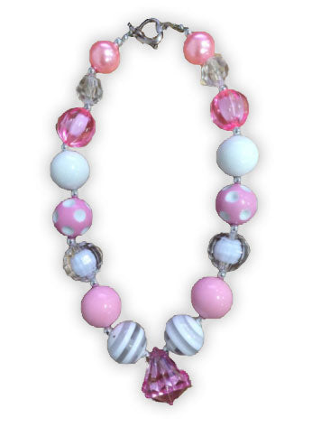 Pink Diamond Gumball Necklace
