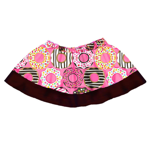 Pink Donuts Brown Skirt