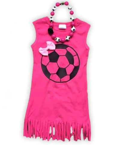 Pink Fringe Soccer Dress