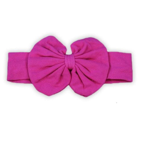 Pink Messy Bow Head Wrap