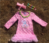 Pink Polka Bunny Ruffle Dress