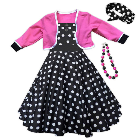 Pink Polka Poodle 50S Adult Costume Dress