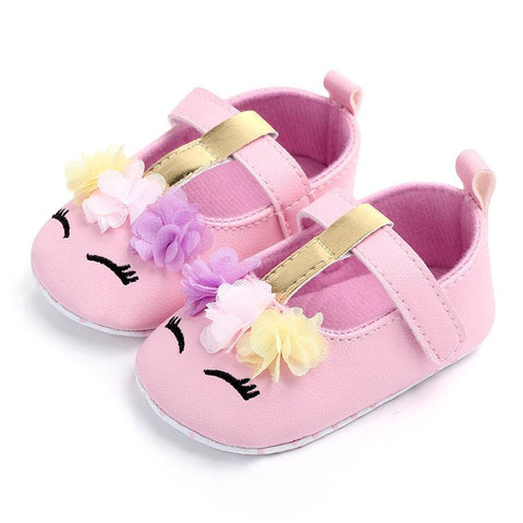 Pink Unicorn Shoes Moccasins Gold Purple Flowers