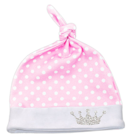 Pink White Polka Princess Beenie Hat