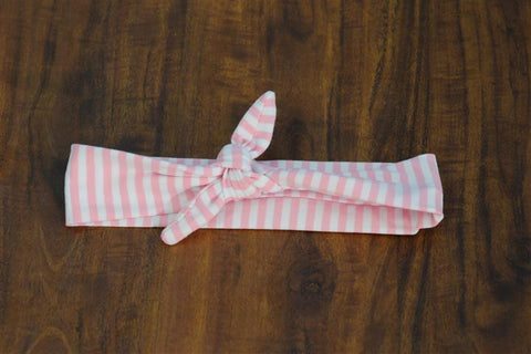 Pink White Stripe Head Wrap