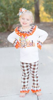 Plaid Gobble Pant Set