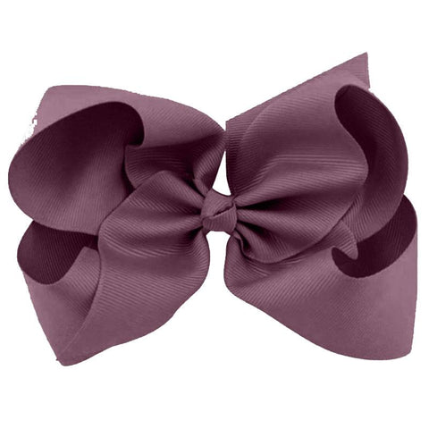 Plum Knot Hair Bow