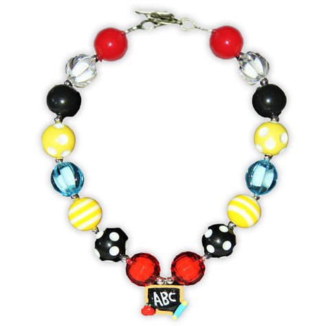 Polka School Abc Necklace