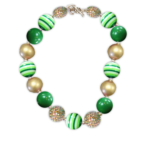 Pot Of Gold Green Necklace
