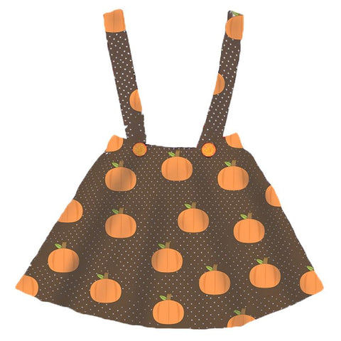 Pumpkin Jumper Brown Polka Dot