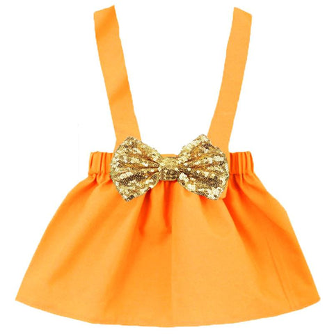 Pumpkin Orange Jumper Gold Bow