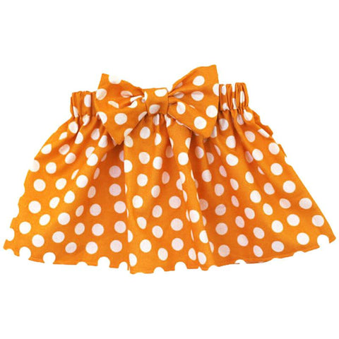Pumpkin Orange Skirt Polka Dot Bow
