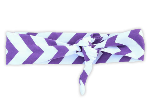 Purple Chevron Head Wrap Headband