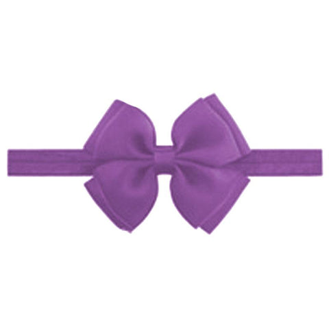 Purple Double Bow Headband
