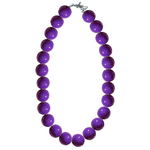 Purple Gumball Necklace