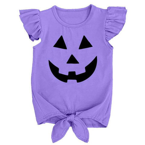 Purple Jackolantern Tie Shirt Mommy And Me