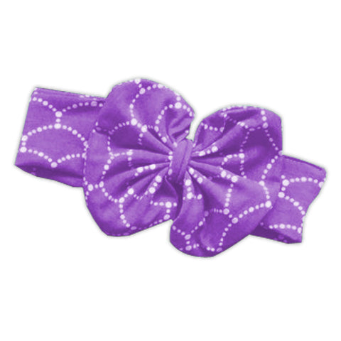 Purple Mermaid Messy Bow Headband