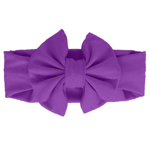 Purple Messy Bow Head Wrap