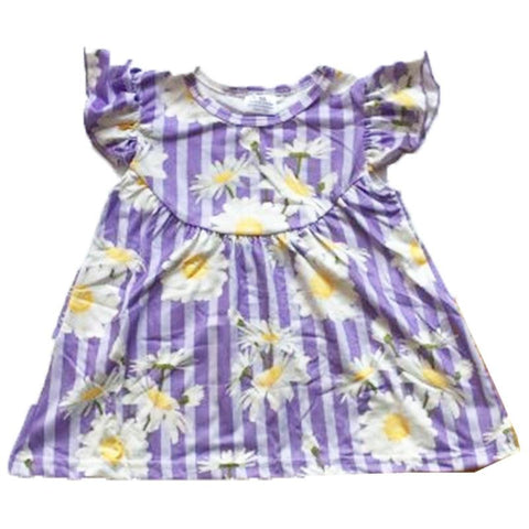 Purple Stripe Daisy Shirt