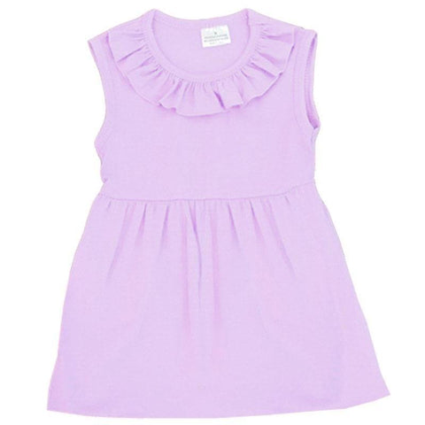 Purple Tank Top Ruffle Neckline