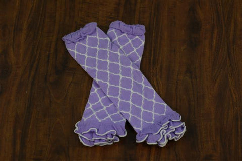 Purple Moroccan Leg Warmers