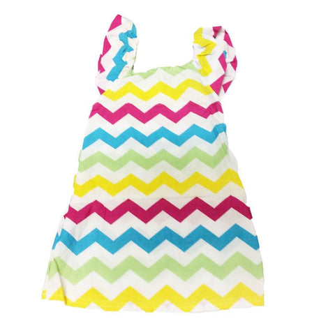 Rainbow Chevron Tank Dress