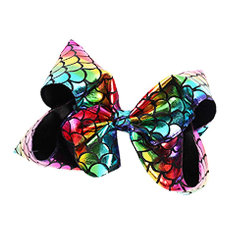 Mermaid Rainbow Scales Knot Bow