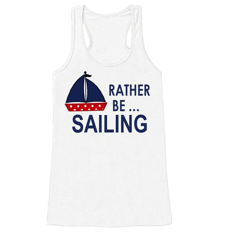 Rather Be Sailing Mommy Tank Top