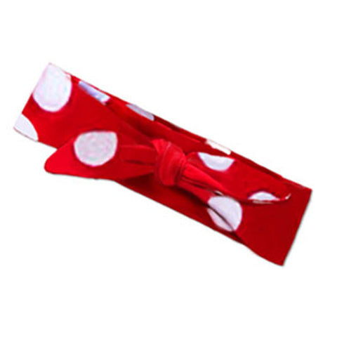 Red Big White Polka Head Wrap