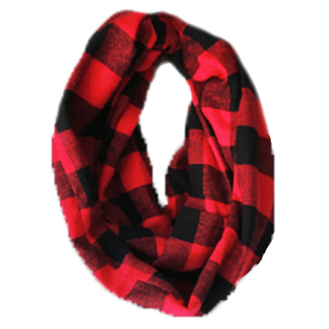 Red Black Buffalo Plaid Scarf