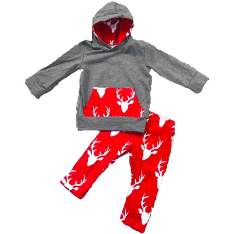 Red Deer Outfit White Antlers Hoodie And Pants  sc 1 st  Upon A Bowtique & Red Deer Outfit White Antlers Hoodie And Pants u2013 Upon A Bowtique