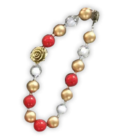 Red Gold Flower Necklace