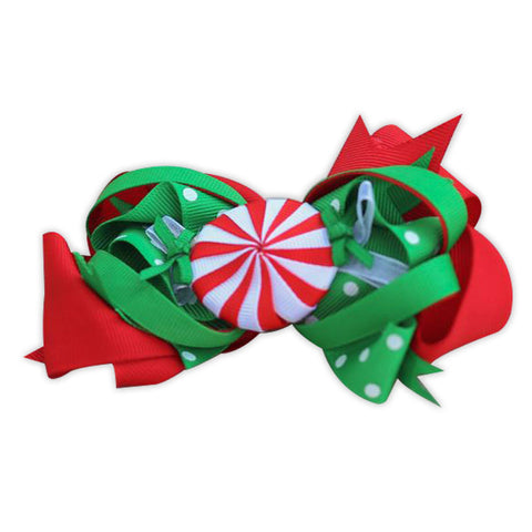 Red Green Candy Bow
