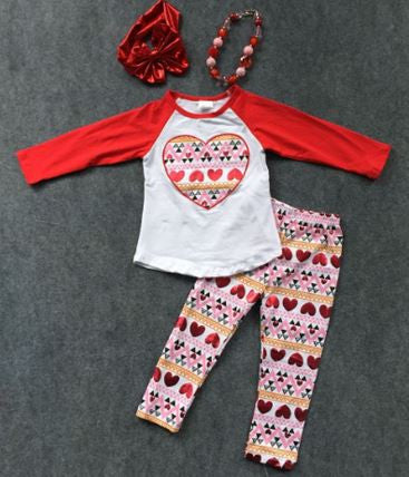 Red Heart Aztec Pant Set