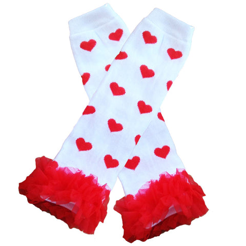Red Heart Leg Warmers Ruffle