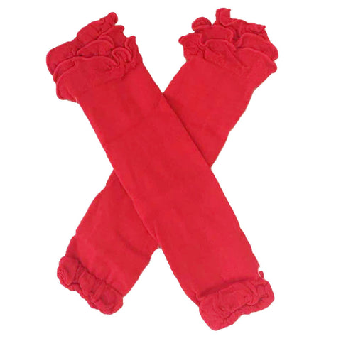 Red Leg Warmers Ruffle