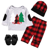 Red Plaid Outfit Buffalo Tree Top And Pants Boy