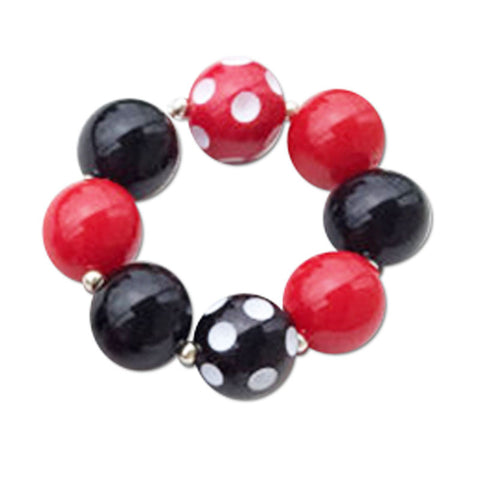 Red Polka Black Bracelet