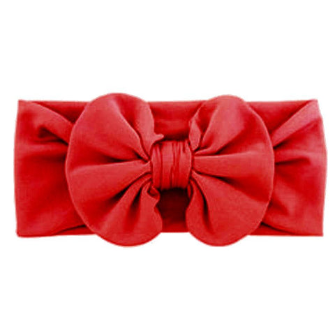 Red Ruffle Bow Headband