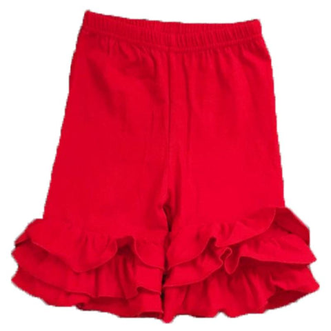 Red Ruffle Shorts