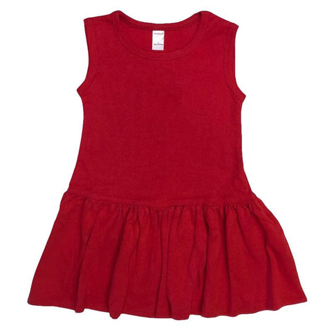Red Ruffle Tank Dress