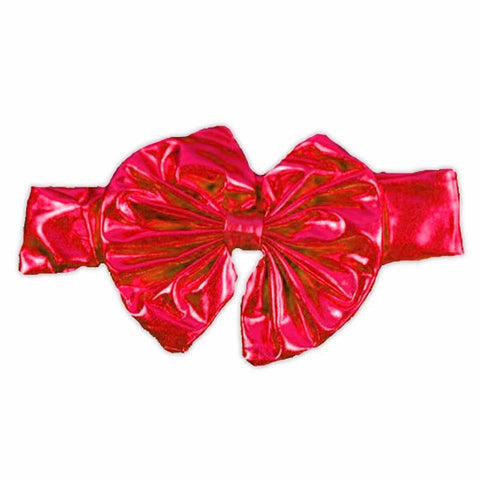 Red Satin Messy Bow Headband