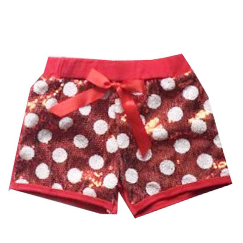 Red Sequin Polka Dot Shorts