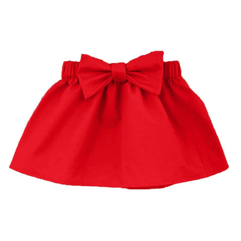 Red Skirt Bow